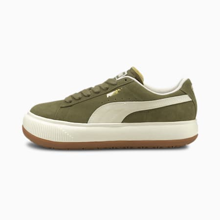 Suede Mayu UP Women's Sneakers, Burnt Olive-Marshmallow-Gum 3, small-GBR