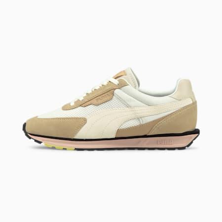 Zapatos deportivos Low Rider Infuse para mujer, Puma White-Pebble, pequeño