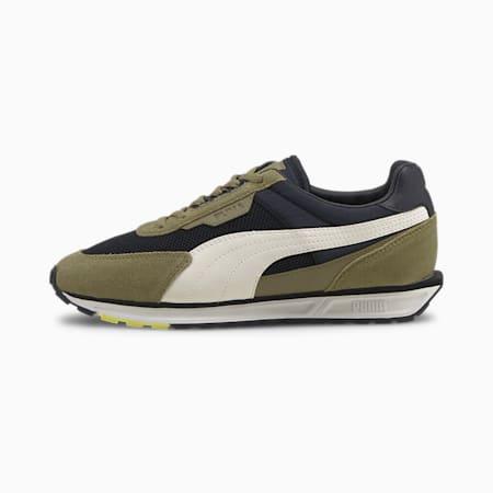 Zapatos deportivos Low Rider Infuse para mujer, Puma Black-Covert Green, pequeño