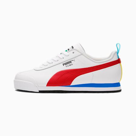 Zapatos deportivos Roma GameJR, White-High Risk Red-Black, pequeño