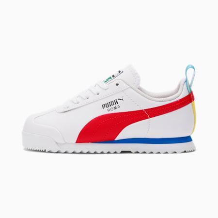 Zapatos Roma Gamepara niño pequeño, White-Red-Puma Black, pequeño