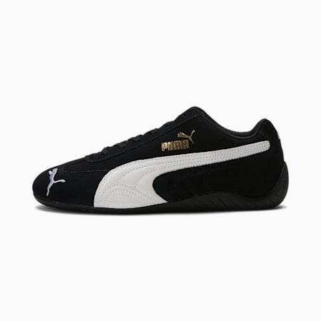 Zapatos de automovilismo Speedcat LS para mujer, Puma Black-Puma White, pequeño