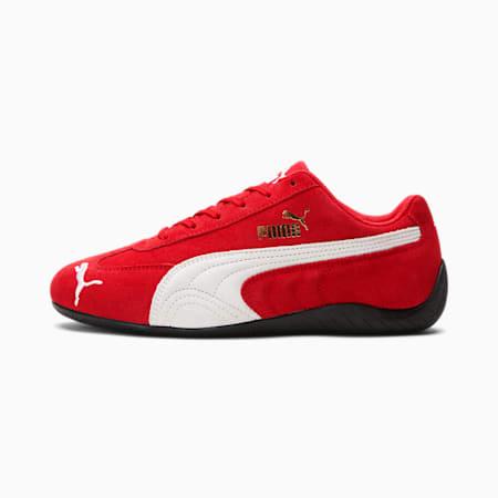 Zapatos de automovilismo Speedcat LS para mujer, High Risk Red-Puma White, pequeño