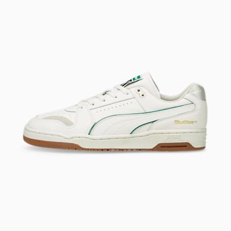 PUMA x BUTTER GOODS Slipstream Lo Trainers, Whisper White-Cadmium Green, small