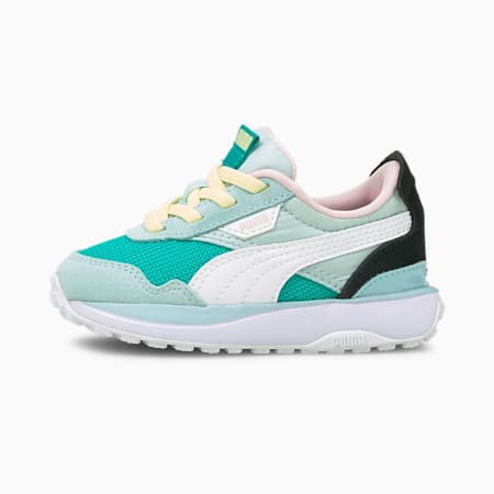 Cruise Rider Babies' Trainers, Viridian Green-Aquamarine, small