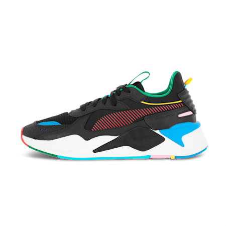 Zapatos deportivos RS-X INTL Gamepara hombre, Pm Bk-Hg Rsk Rd-FrchBl-Em YL, pequeño