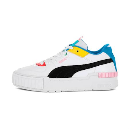 Zapatos deportivos Cali Sport INTL Game para mujer, Blanco-Puma Black-French Blue, pequeño