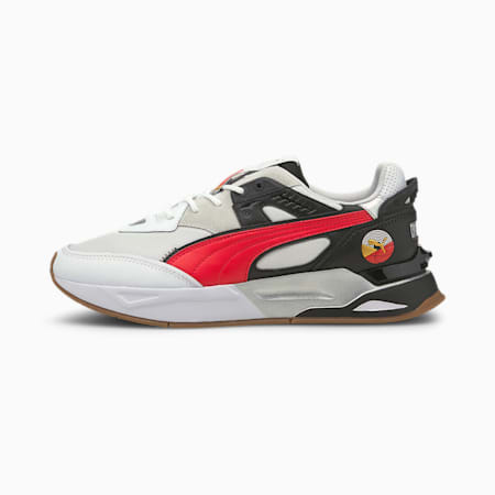 Mirage Sport AS Unisex Shoes, Puma White-Puma Black-High Risk Red, small-IND