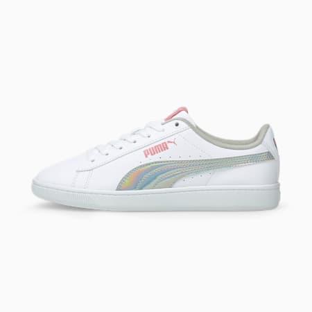 PUMA Vikky V2 Rainbow Kid's Sneakers, Puma White-Peony-Puma Silver, small-IND