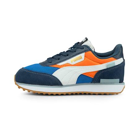 Future Rider Splash Kid's Sneakers, Vibrant Orange-Puma White, small-IND