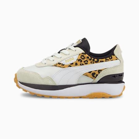 Zapatos deportivos Cruise Rider Roar para niño pequeño, Puma White-Mineral Yellow, pequeño
