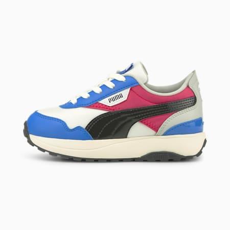 Zapatos Cruise Rider Silky para niño pequeño, Puma White-Bluemazing, pequeño