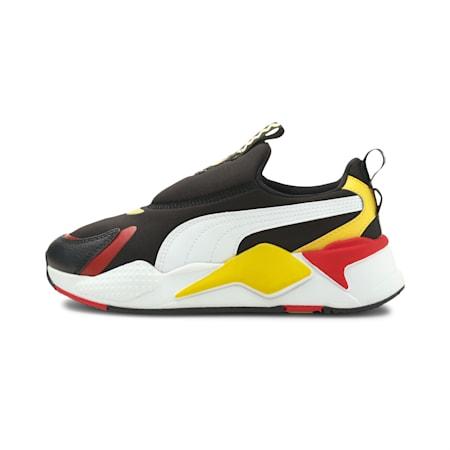 PUMA x PEANUTS RS X Slip-On Kid's Sneakers, Puma Black-Puma White, small-IND