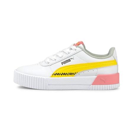 Zapatos deportivos PUMA x PEANUTS Carina para niño pequeño, Puma White-Maize, pequeño