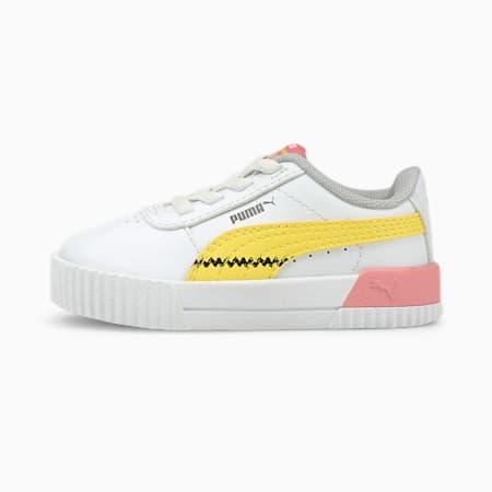 PUMA x PEANUTS Carina AC Baby Sneaker, Puma White-Maize, small