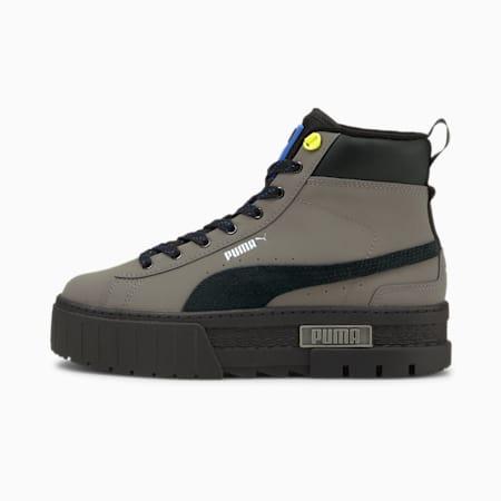 Mayze Mid WTR Women's Boots, Steel Gray-Puma Black, small