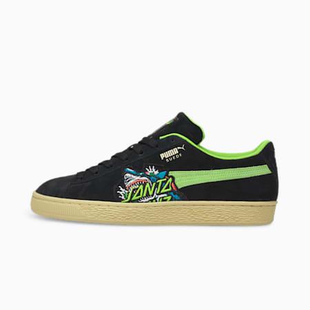 PUMA x SANTA CRUZ Suede Sneakers, Puma Black-Green Flash-Deep Wisteria, small