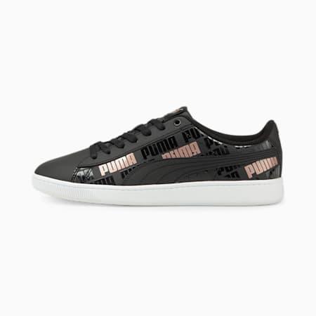 Zapatos deportivosPUMA Vikky v2Sig Renew para mujer, Puma Black-Puma Black-Rose Gold, pequeño