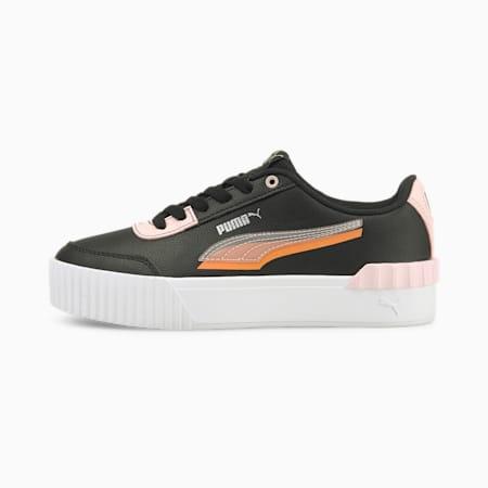 Zapatos deportivos Carina Lift Shadow para mujer, Puma Black-Lotus, pequeño