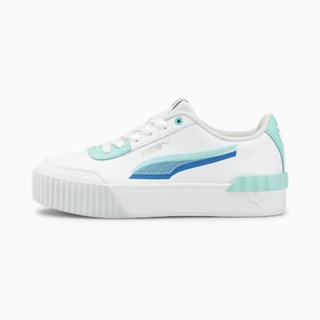 Carina Lift Shadow Women's Sneakers, Puma White-Eggshell Blue, small-IND