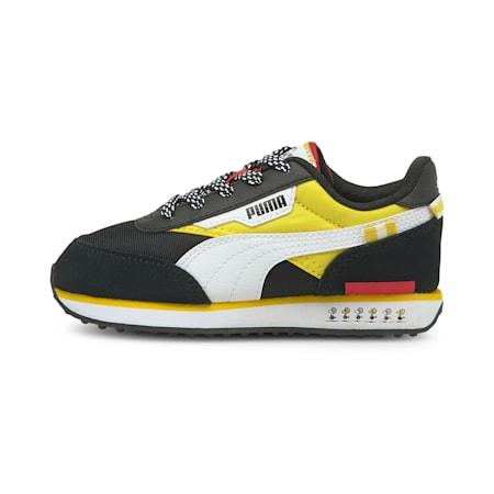 Zapatos deportivos PUMA x PEANUTS Future Rider para niño pequeño, Puma Black-Maize, pequeño