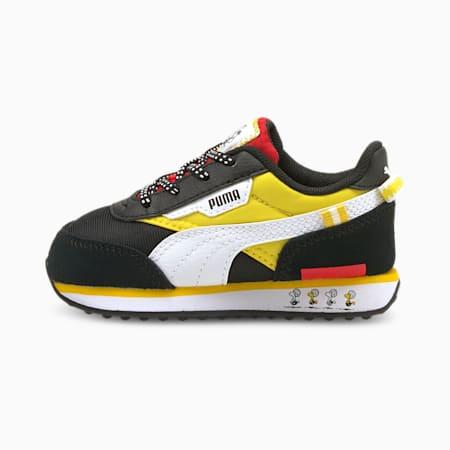 Zapatos deportivos PUMA x PEANUTS Future Rider para bebé, Puma Black-Maize, pequeño