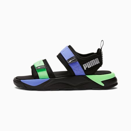 Sandalias RS-Sandal GIDpara mujer, Puma Black-Elektro Purple-Elektro Green, pequeño