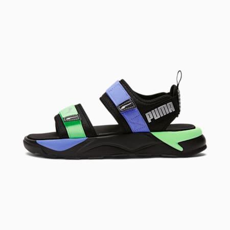 Sandalias RS-Sandal GIDpara mujer, Negro-Elektro Purple-Verd, pequeño