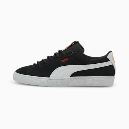 Zapatos deportivos Suede Art of Sport para hombre, Puma Black-Puma White-High Risk Red, pequeño
