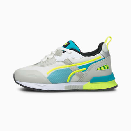 Mirage Tech Kids' Trainers, Gray Violet-Puma White, small
