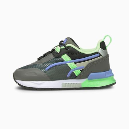 Mirage Tech Baby Sneaker, CASTLEROCK-Elektro Green, small