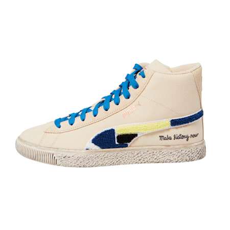 Black Fives Mid Trainers, Creme Brulee, small-GBR