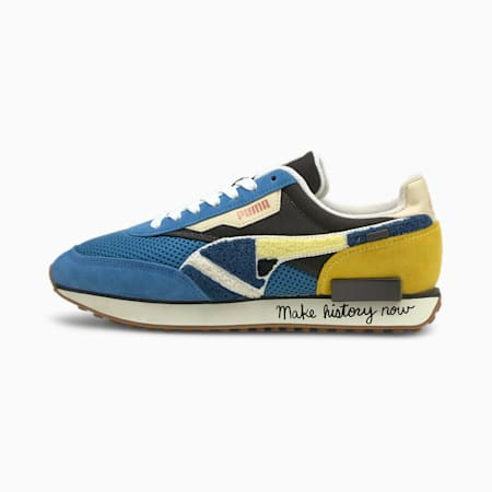 Black Fives Low Trainers, Star Sapphire-Maize, small