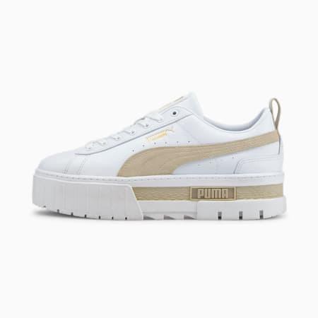 Mayze Lth Damen Sneaker, Puma White-Peyote, small