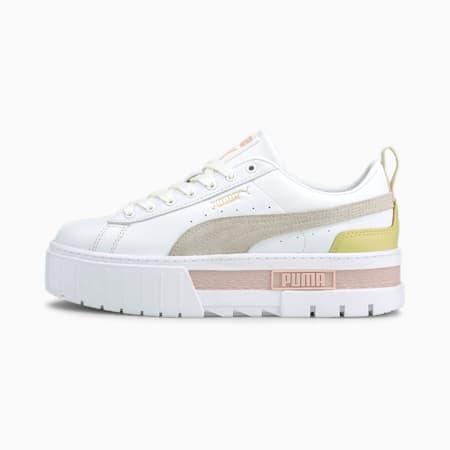 Mayze Lth Damen Sneaker, Puma White-Lotus, small