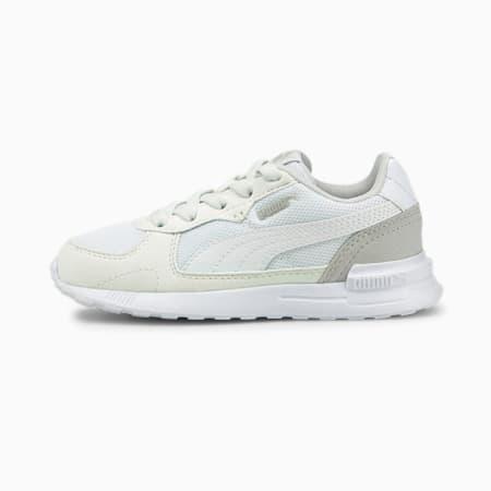 Zapatos deportivos Graviton para niño pequeño, Puma White-Puma White-Gray Violet, pequeño