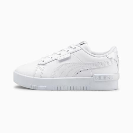 Dziecięce buty sportowe Jada, Puma White-Puma White-Puma Silver, small