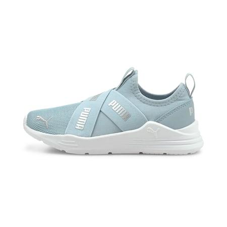 PUMA Wired Run Slip-On Kid's Shoes, Blue Fog-Puma Silver, small-IND