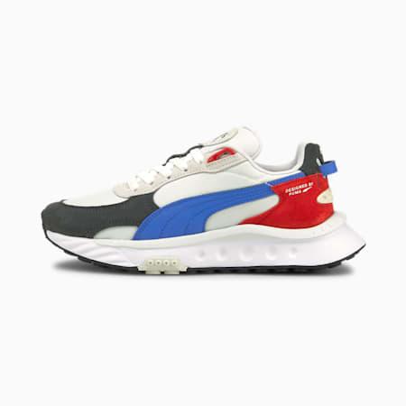 Wild Rider Rollin' Sneakers JR, Ebony-Puma White, small