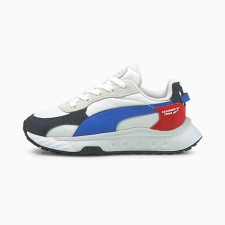 Zapatos Wild Rider Rollin' para niños pequeños, Ebony-Puma White, pequeño
