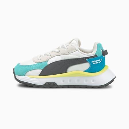 Zapatos Wild Rider Rollin' para bebé, Elektro Aqua-Puma White, pequeño