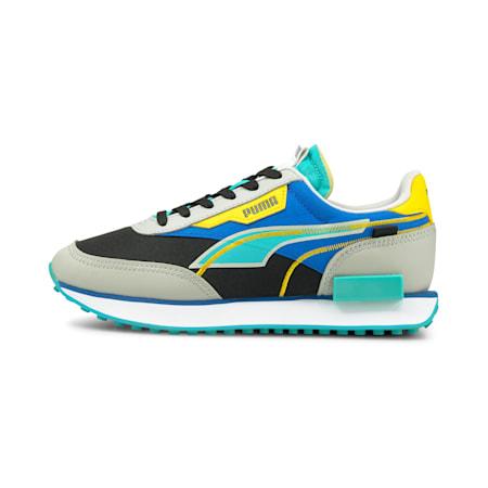 Zapatos deportivos Future Rider TwofoldJR, Black-Gray Violet-FutureBlue, pequeño