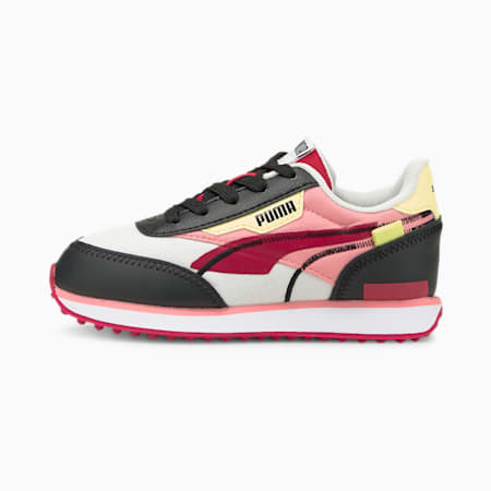 Zapatos deportivos Future Rider Twofoldpara niños pequeños, White-Puma Black-Persian Red, pequeño