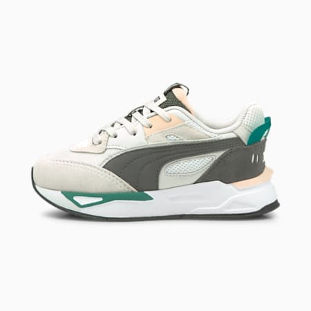Zapatos deportivos Mirage Sport Remix para niño pequeño, Puma White-Dark Shadow, pequeño