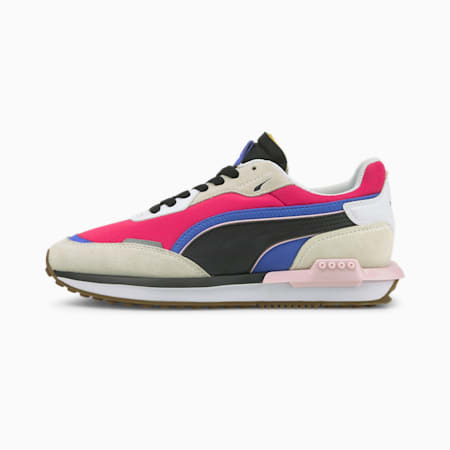 City Rider Trainers, Vaporous Gray-Beetroot Purple, small