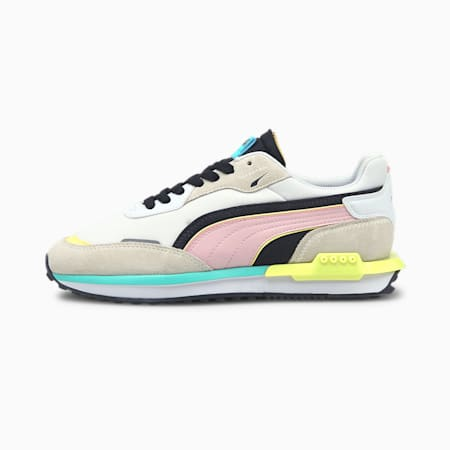 City Rider Unisex Sneakers, Vaporous Gray-Pink Lady, small-IND