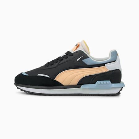 Zapatos deportivos City Rider Electric, Puma Black-Peach Parfait, pequeño