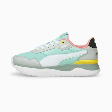 R78 Voyage Youth Trainers, Eggshell Blue-White-Gray, small-GBR
