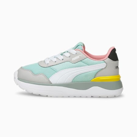 R78 Voyage Kids' Trainers, Eggshell Blue-White-Gray, small-GBR