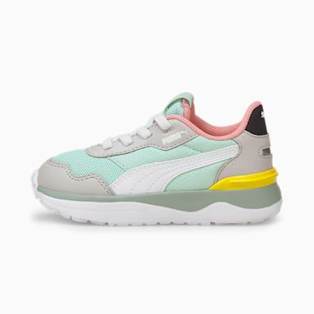 Zapatos deportivos R78 Voyage AC para bebé, Eggshell Blue-Puma White-Gray Violet, pequeño